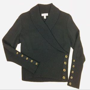 Vintage St. John Button Shawl Collar Santana knit